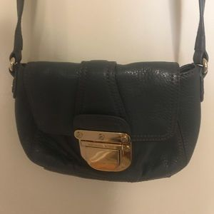 Michael Kors grey/gold buckle purse.